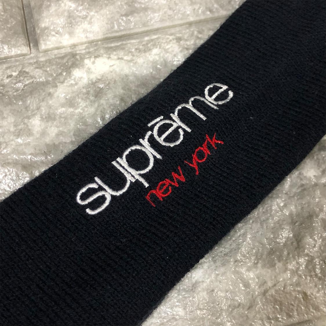 正規品 SUPREME シュプリーム × NEW ERA ニューエラ ヘアバンド Polartec Headband クラシック ロゴ ブラック