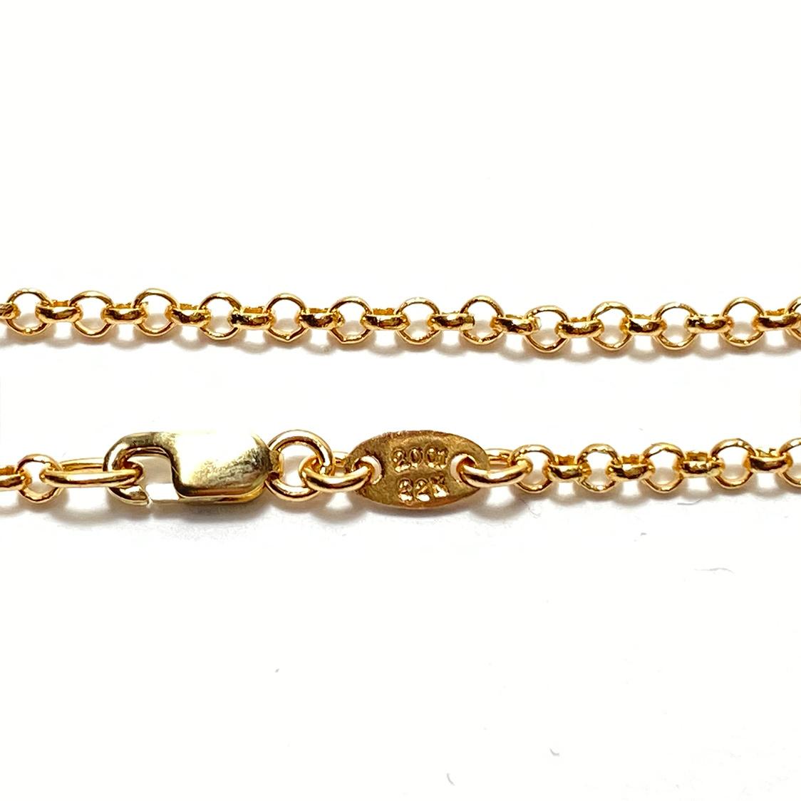 クロムハーツ CHROME HEARTS 22K ロールチェーン 18インチ ネックレス ゴールド 約47cm