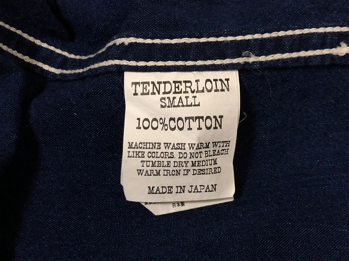 TENDERLOIN テンダーロイン【Sサイズ】シャンブレー シャツ 長袖