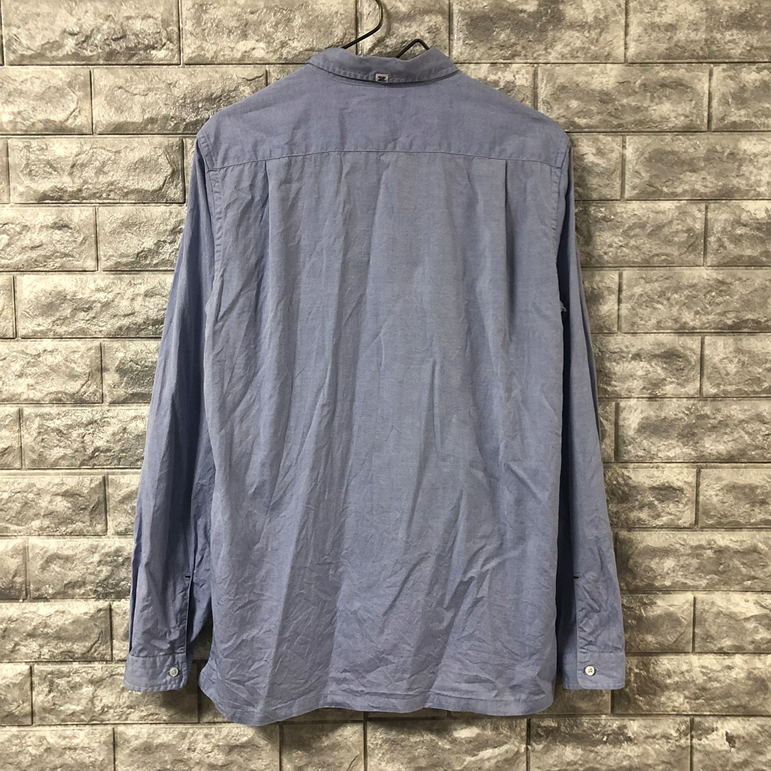BEDWIN & THE HEARTBREAKERS ベドウィン アンド ザ ハートブレイカーズ 長袖シャツ 裾ポケット付き ブルー