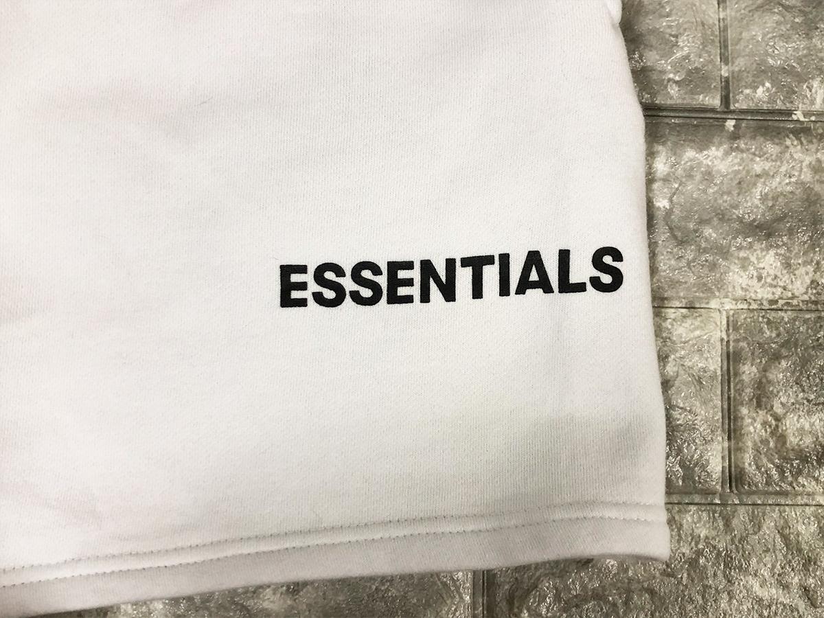 正規品 FOG Fear Of God Essentials フェアオブゴッド エッセンシャルズ 【Sサイズ】 スウェット ショーツ ハーフパンツ ホワイト