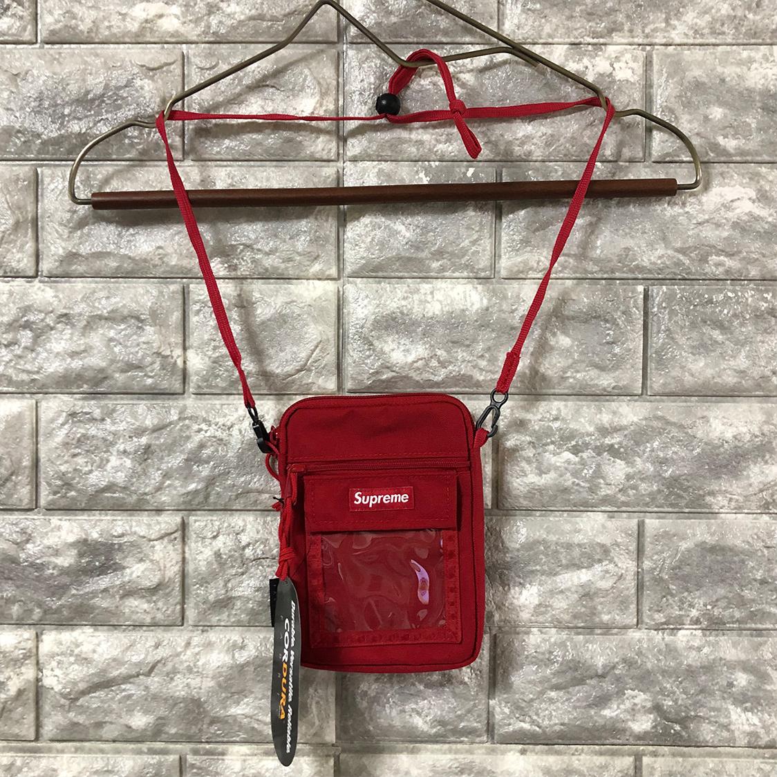 新品 supreme シュプリーム Utility Pouch Red ショルダー バッグ ポーチ タグ付き レッド 赤 国内正規品