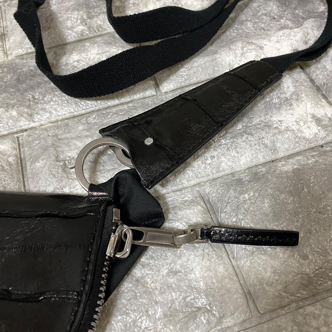 新品 【定価60,500】 Rick Owens リックオウエンス ウナギ革 ネックウォレット 財布 レザー サイフ コインケース レア