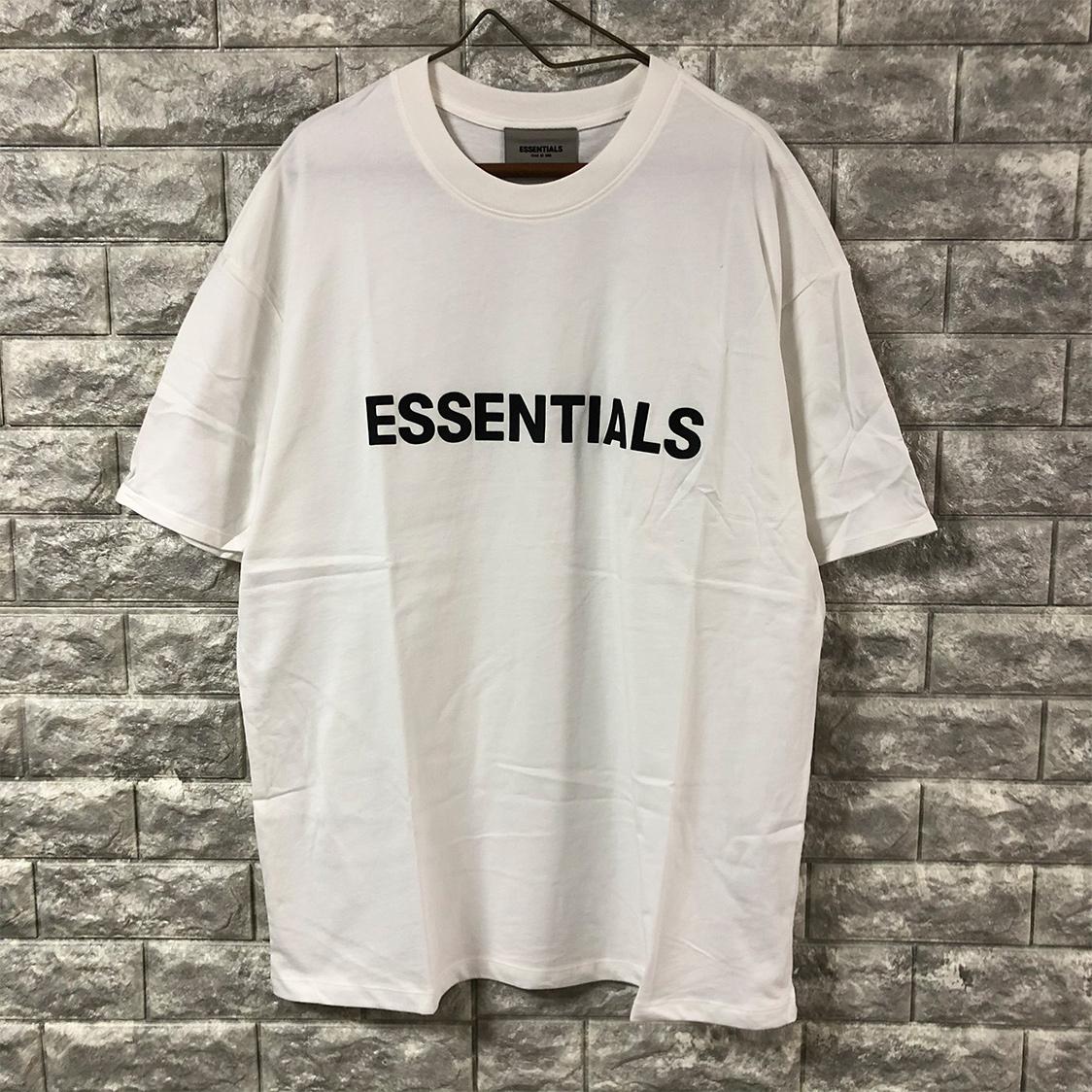 新作 新品 FOG Fear Of God Essentials フェアオブゴッド エッセンシャルズ 【Mサイズ】 LOGO TEE Tシャツ 半袖 エッセンシャル WHITE ホワイト フォグ