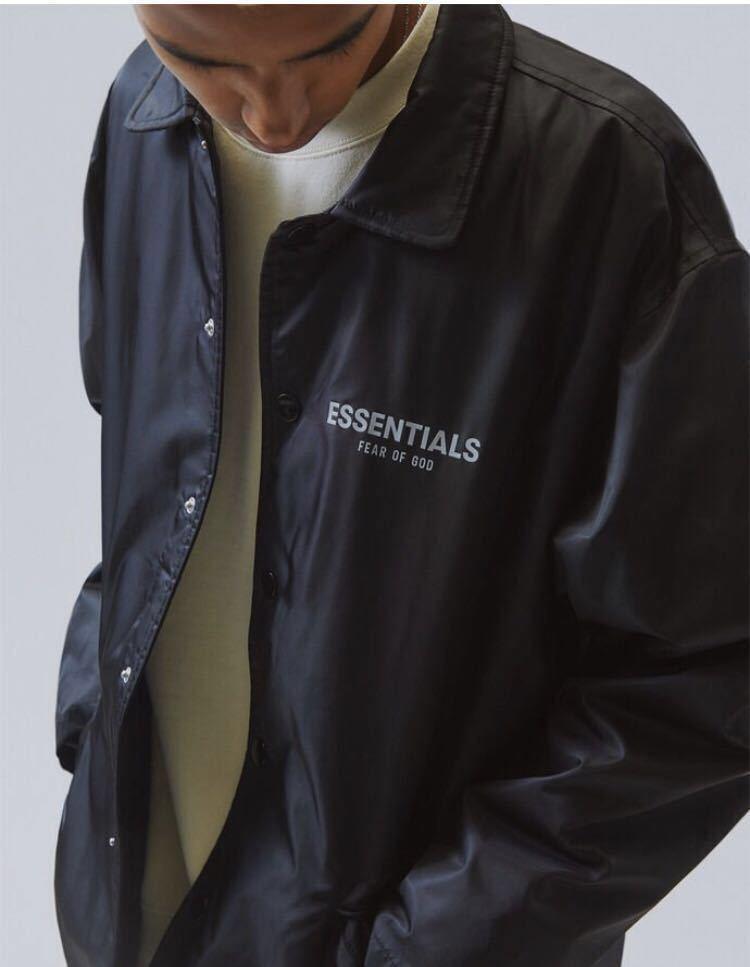 新品 正規品【Sサイズ】FOG ESSENTIALS フォグ エッセンシャルズ coach jacket コーチジャケット fear of god PACSUN 19aw 19fw