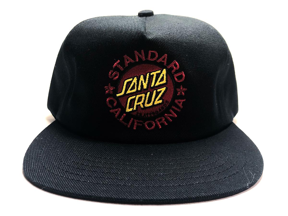 STANDARD CALIFORNIA スタンダードカリフォルニア キャップ SANTA CRUZ サンタクルーズ ブラック 帽子