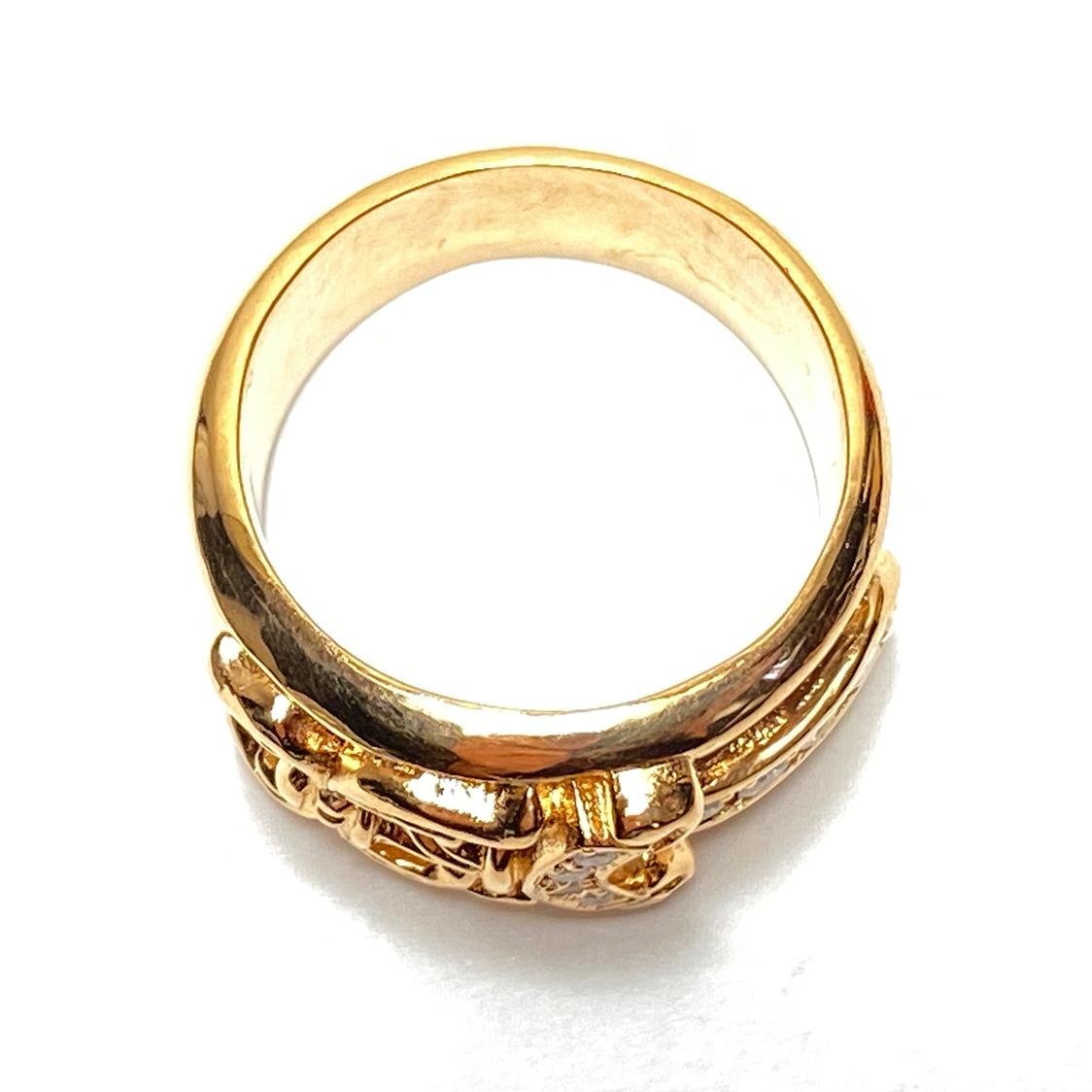 希少 クロムハーツ CHROME HEARTS 【19号】 22K ダガーリング パヴェダイヤ 指輪