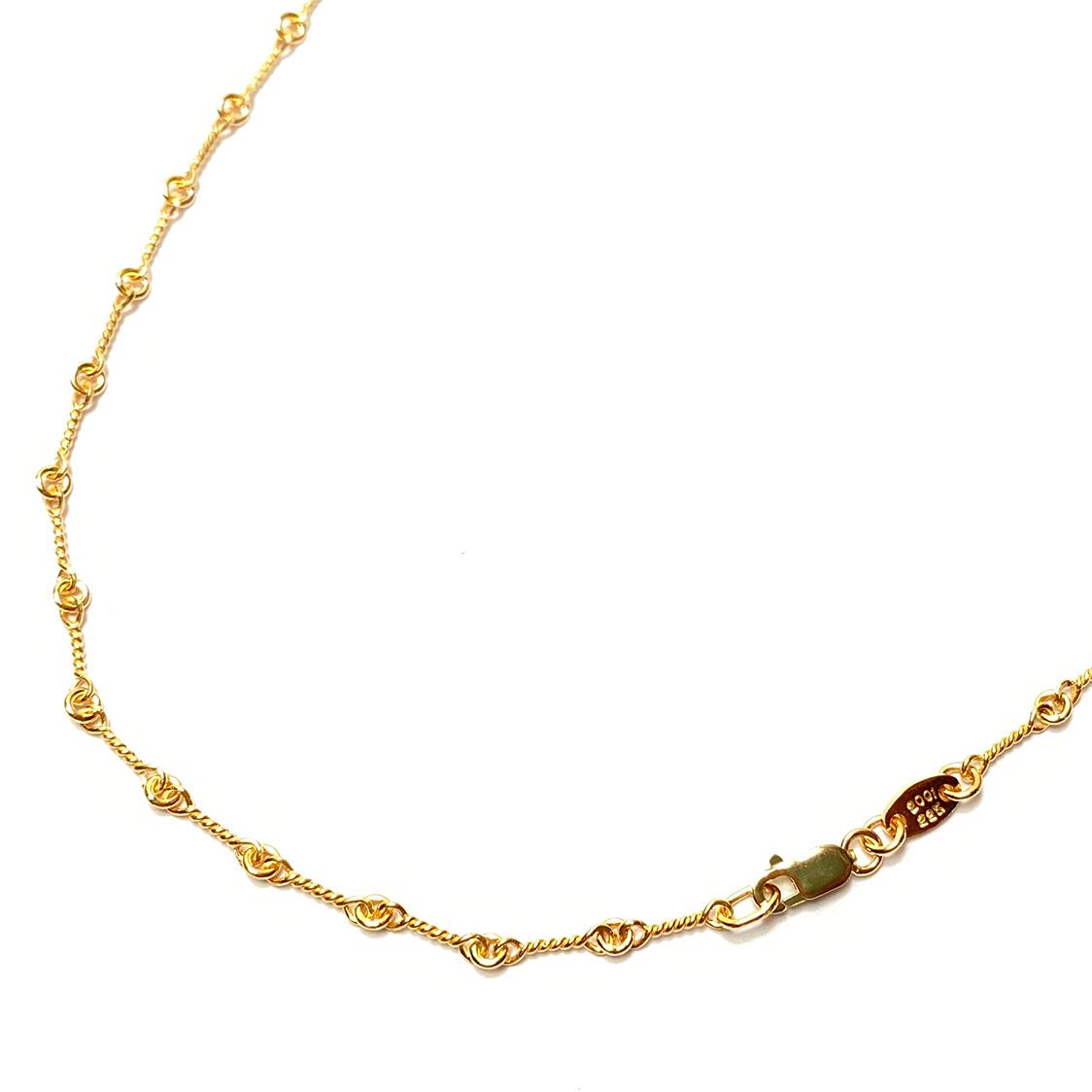 【期間限定価格】クロムハーツ CHROME HEARTS 22K ツイストチェーン 18インチ ネックレス ゴールド 約47cm