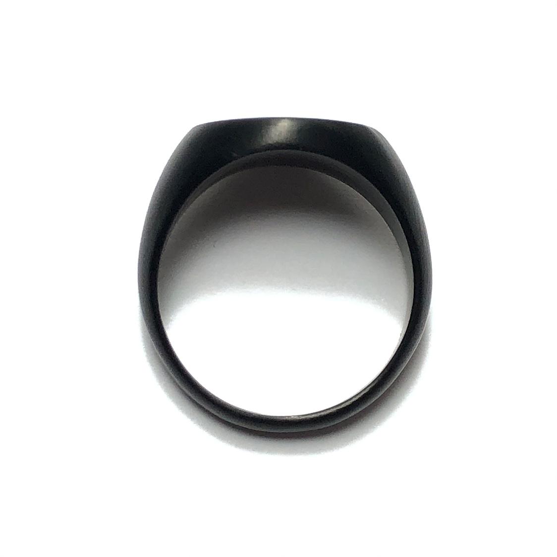 新品 MARCELO BURLON マルセロバーロン マルセロブロン 【23号】リング 指輪 ブラック ステンレス s.steel
