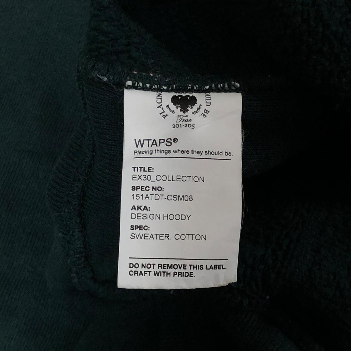 WTAPS ダブルタップス 【Lサイズ】 ロゴ プルオーバー パーカー フーディ グリーン