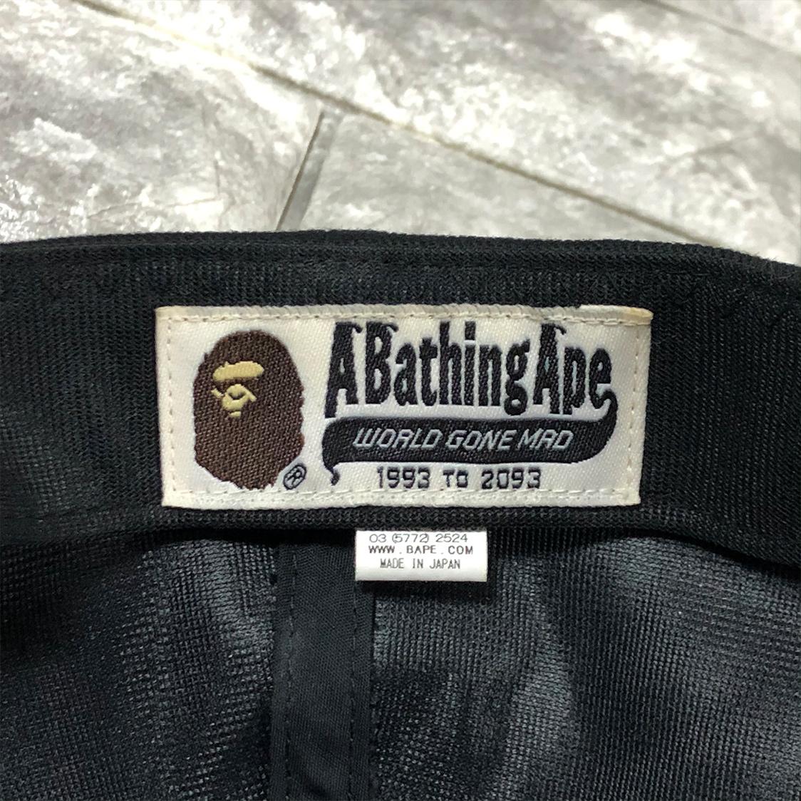 A BATHING APE ア ベイシング エイプ 【Fサイズ】 BAPE シャーク 刺繍 キャップ ベイプ NIGO