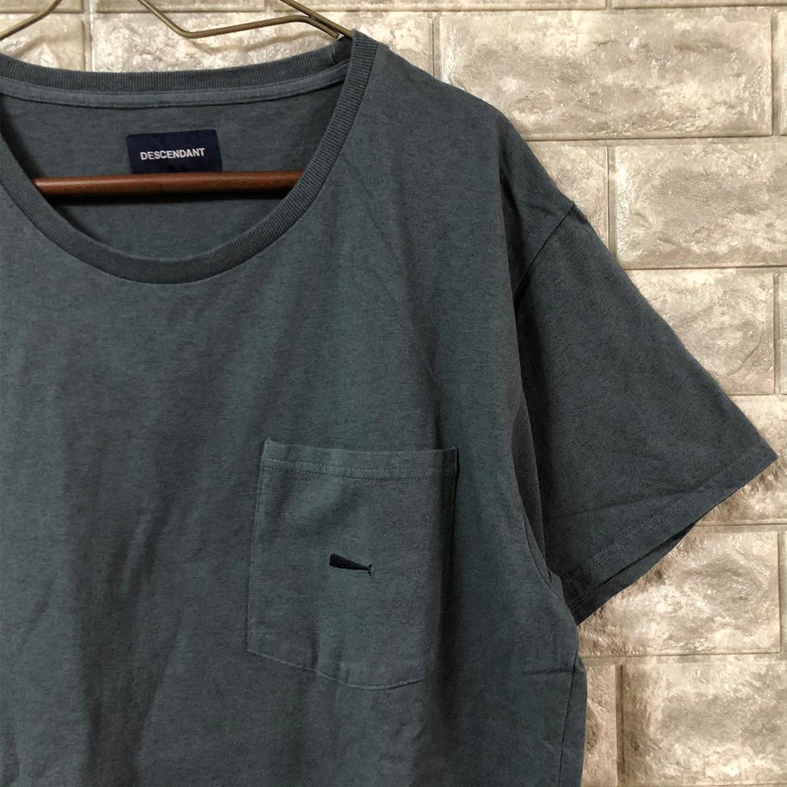 DESCENDANT ディセンダント 【サイズ1】 ポケット付き Tシャツ カットソー 半袖