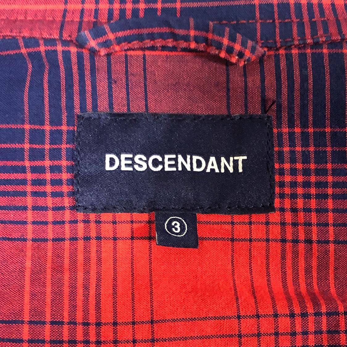 DESCENDANT ディセンダント【サイズ3】 チェック シャツ 長袖 レッド ネイビー