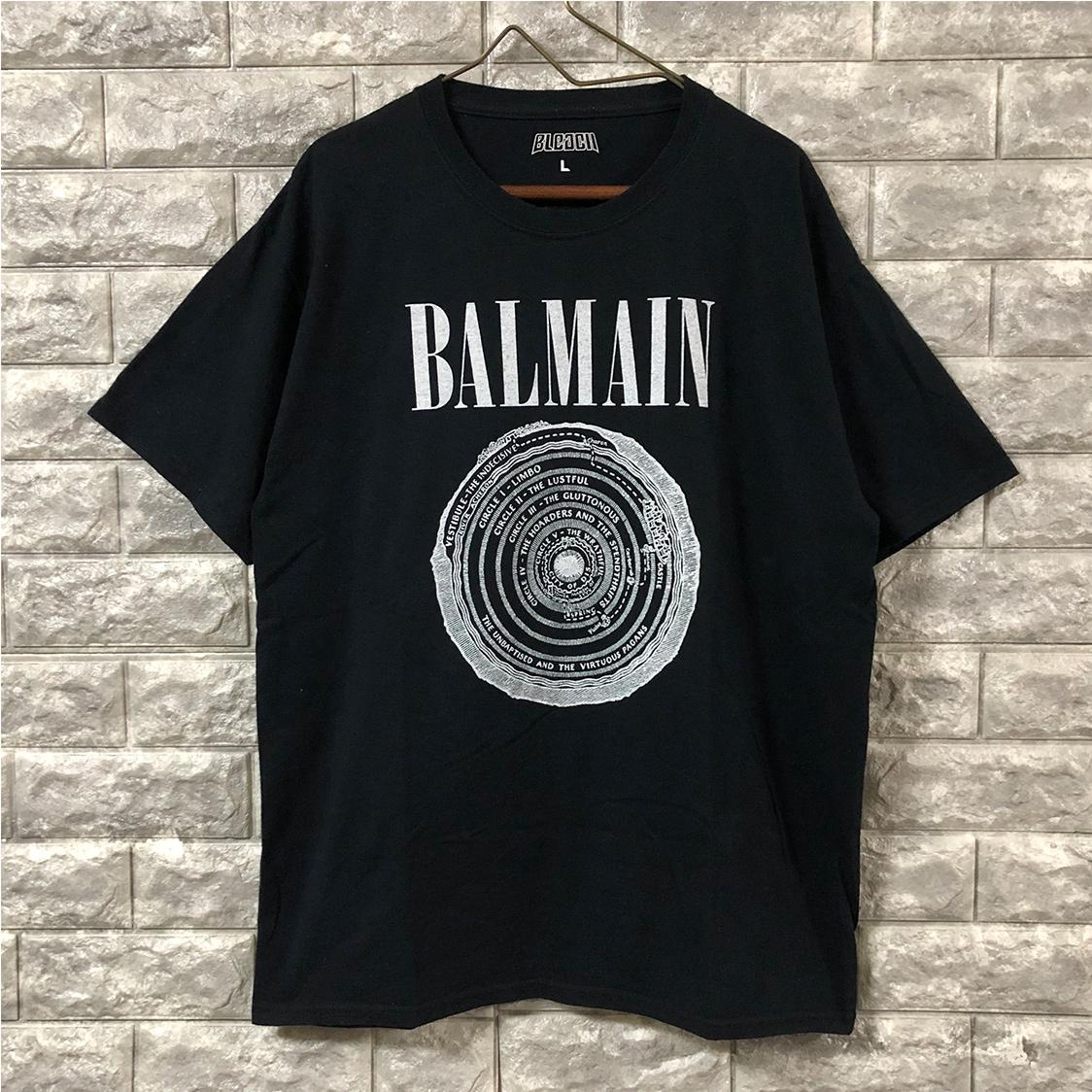 BLEACH ブリーチ 【Lサイズ】 パロディ Tシャツ バンドtee バックプリント ニルバーナ BALMAN