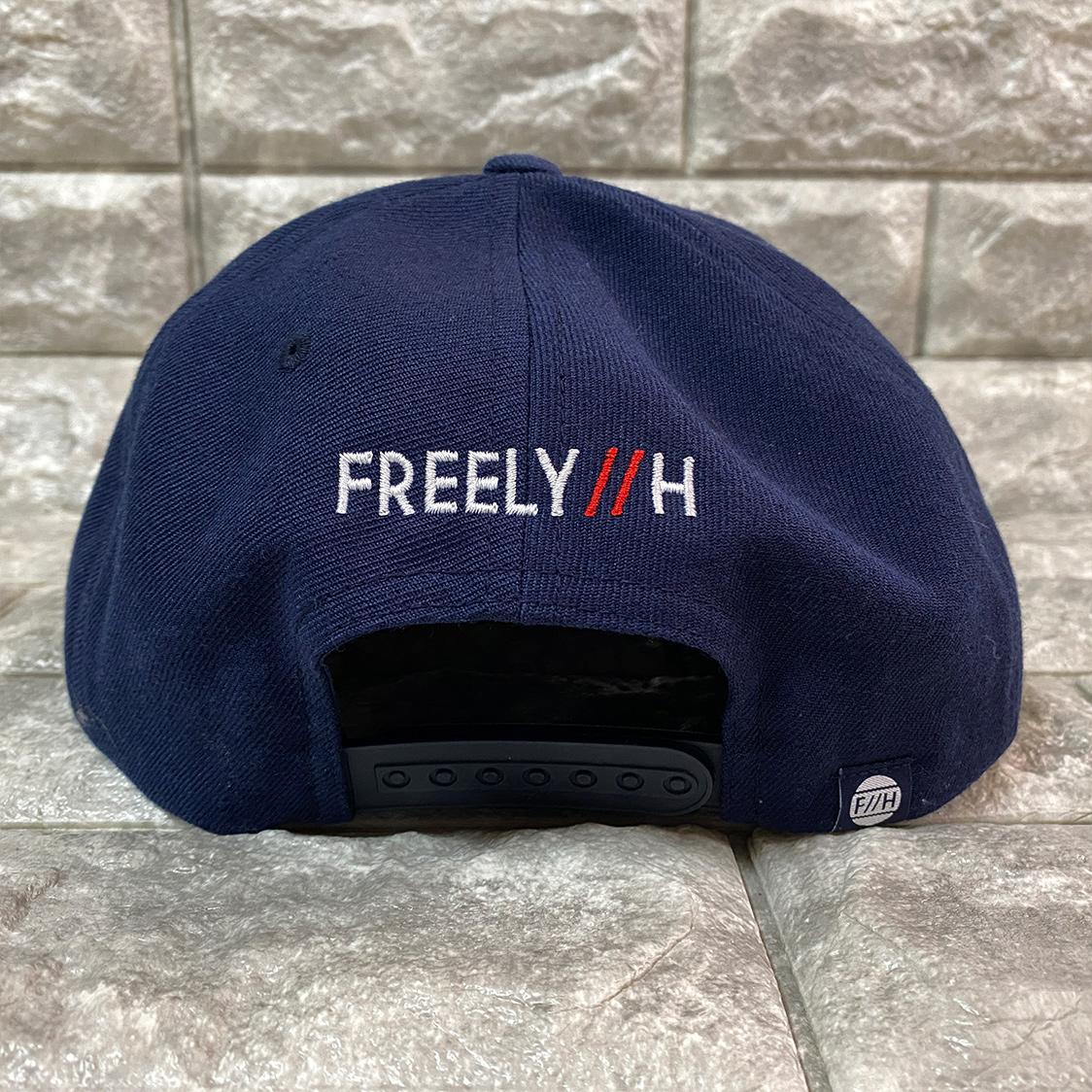 新品 八王子リホーム FREELY//H ロゴ ロー キャップ 帽子 ネイビー / リフォーム ヒロミ ジェシー SixTONE