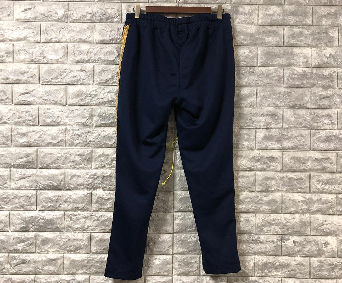 mintcrew ミントクルー 18AW Cropped Track Pants サイドライン トラック ジャージ パンツ ネイビー M