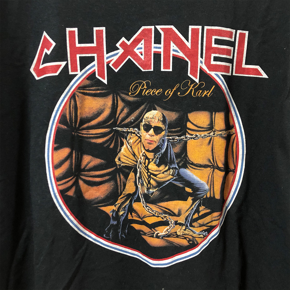 BLEACH ブリーチ 【Lサイズ】 パロディ Tシャツ バンドtee バックプリント ブラック CHANEL