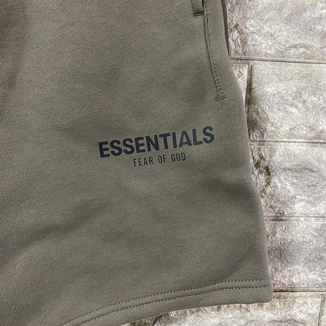 2021新作 新品 Fear Of God Essentials フェアオブゴッド エッセンシャルズ【Sサイズ】 ロゴ スウェット ショーツ ハーフパンツ セメント FOG