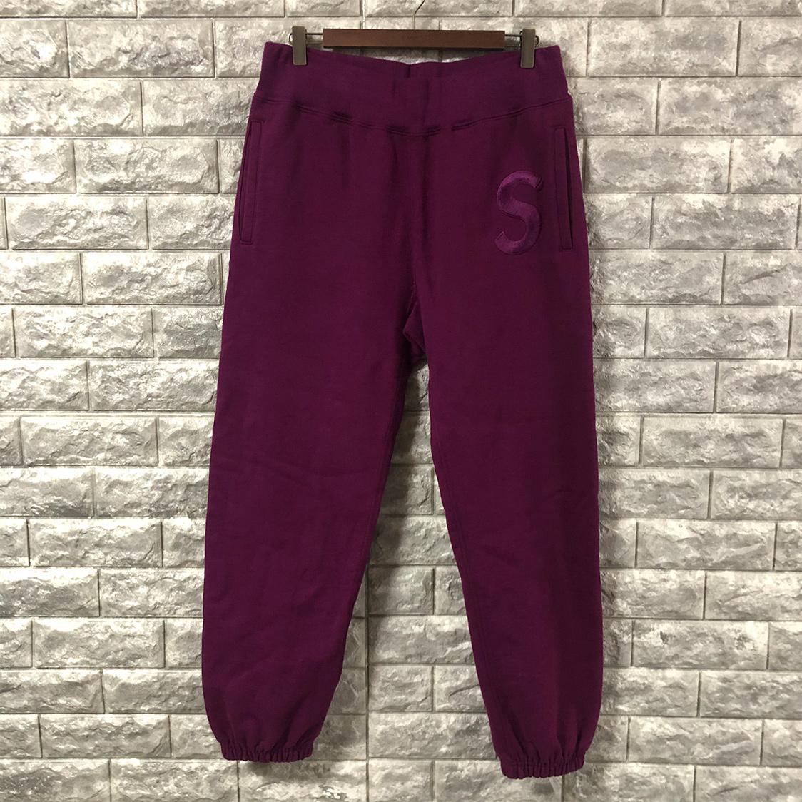 SUPREME シュプリーム 【Sサイズ】 スウェット パンツ パープル イニシャル 紫