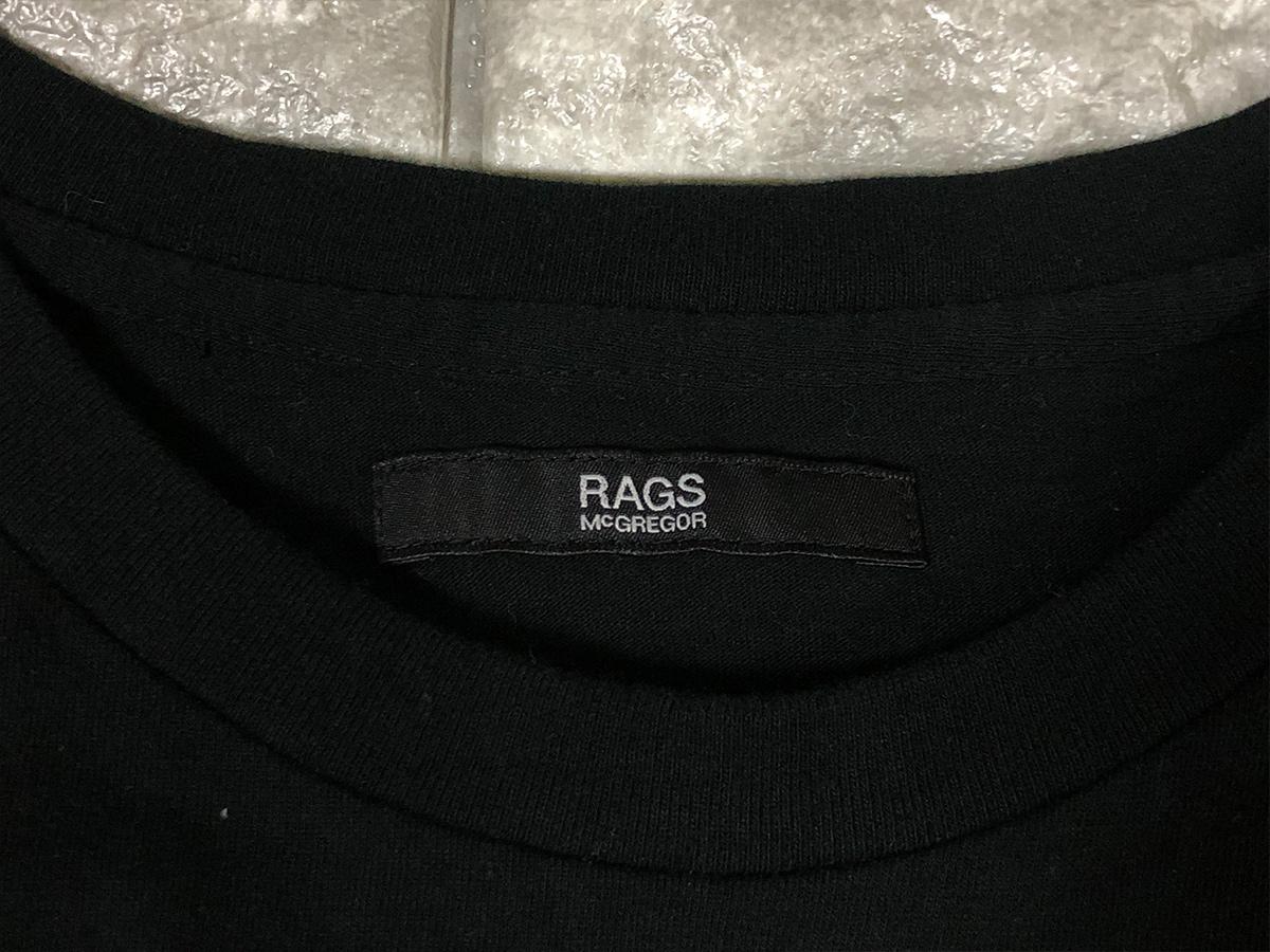 Rags McGREGOR ラグスマックレガー ポケット付き Tシャツ カットソー ブラック Mサイズ