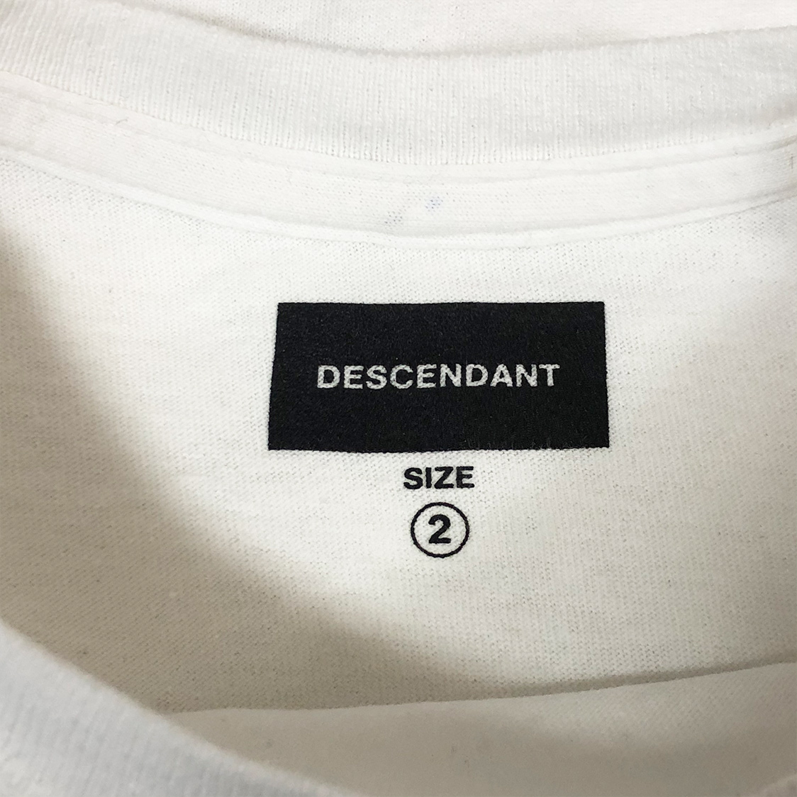 DESCENDANT ディセンダント 【サイズ2】 ロゴ Tシャツ カットソー 半袖 2018SS