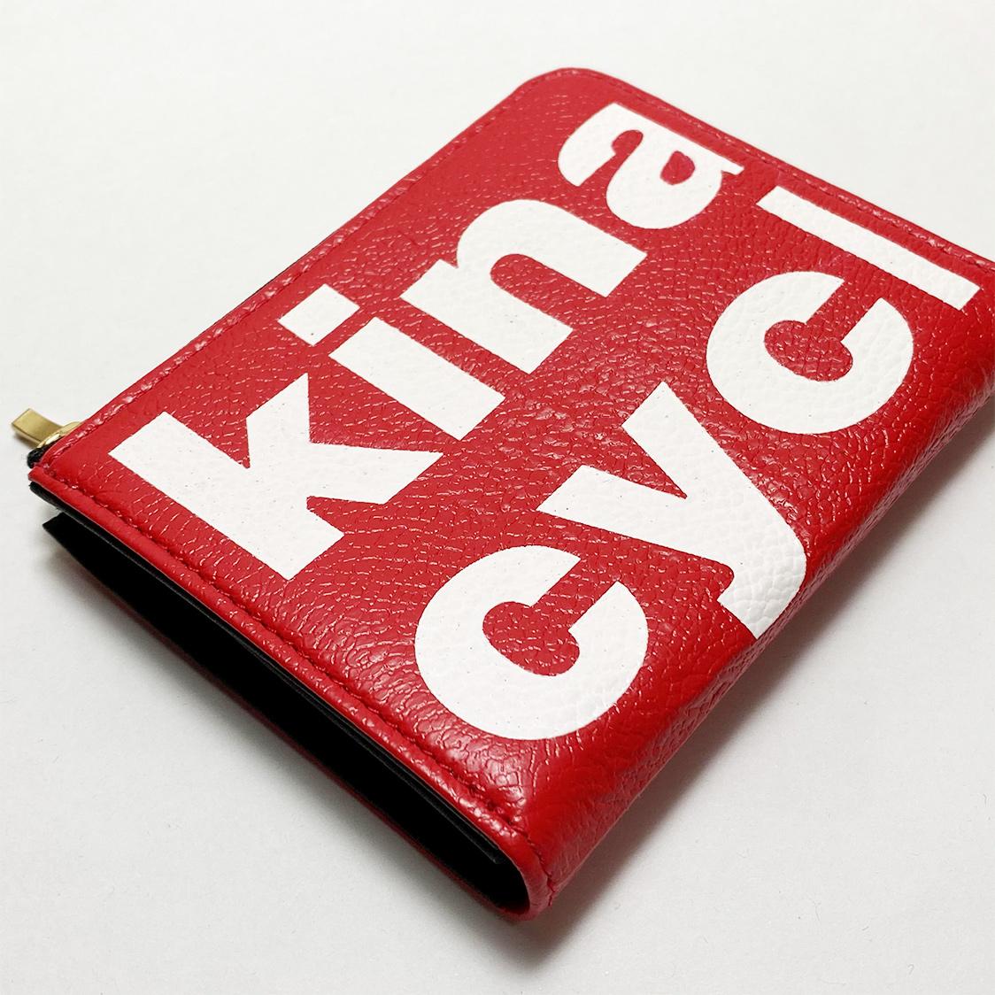新品 木梨サイクル kinashicycle コンパクト財布 レッド / キーケース コインケース パスケース キーホルダー サイフ カードケース
