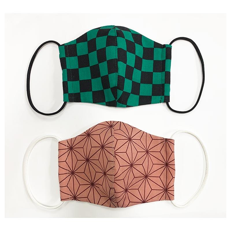 web20201210-02 手作りマスクにもおすすめ鬼滅の刃風 エイティスクエア 10cm (プレゼント付き)