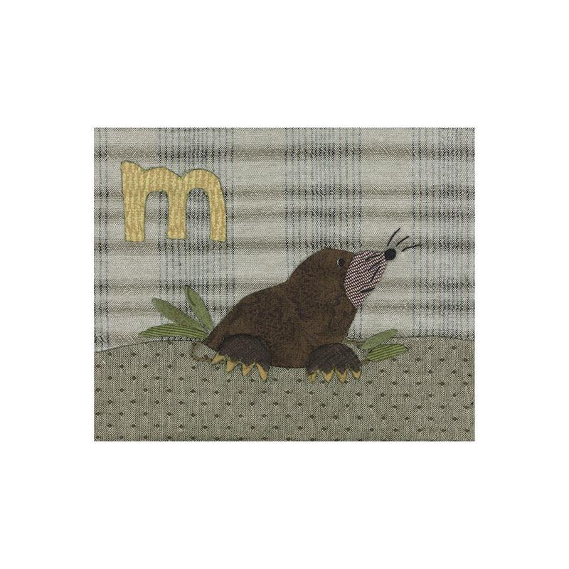 アルファベットで描くいきもの もぐら ライオン (作り方なし)斉藤謠子の 布で描くいきものたち掲載