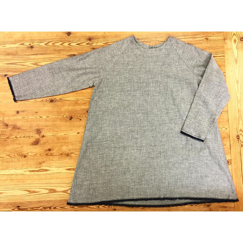 フリンジのチュニック色違い(作り方なし)着心地かろやか 手縫いのおとな服掲載