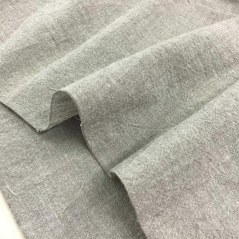 ラグランそでのワンピースb(薄グレー)(作り方なし)斉藤謠子のいつも心地のよい服とバッグ掲載