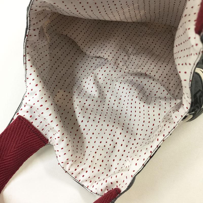 ワンコの布でつくるワンマイルバッグb(作り方なし)
