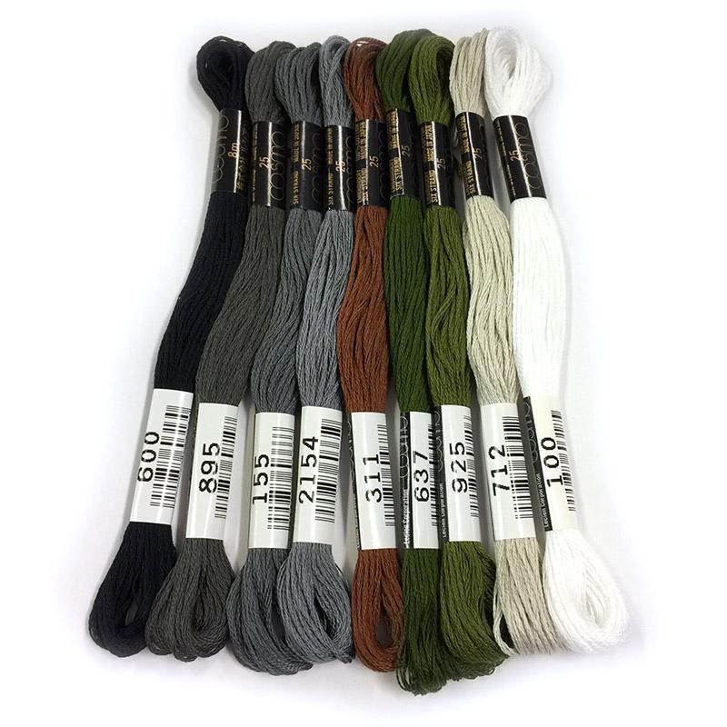 ハウスのミステリーキルトおすすめ刺しゅう糸9色セット