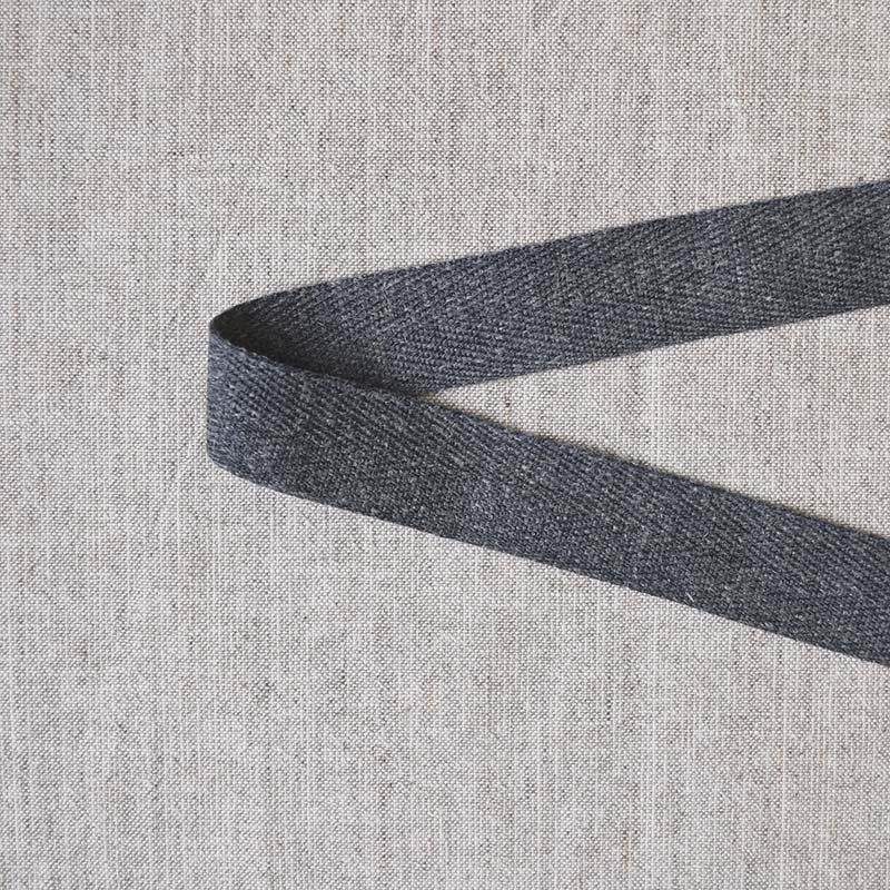 リネン混杉綾テープ 2.5cm幅