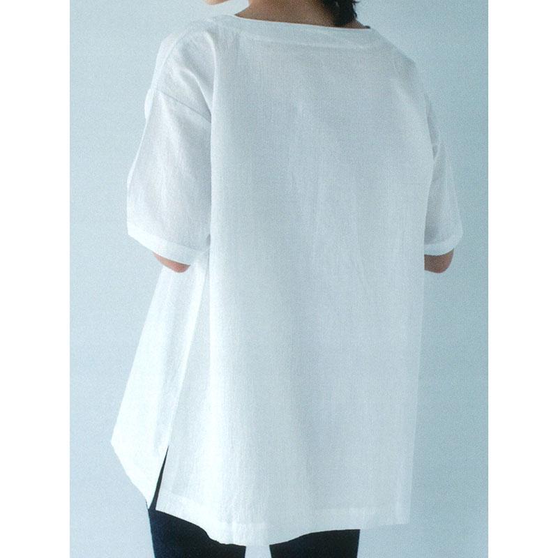 Tシャツ風ブラウスa(作り方なし)いつも心地のよい服とバッグ掲載