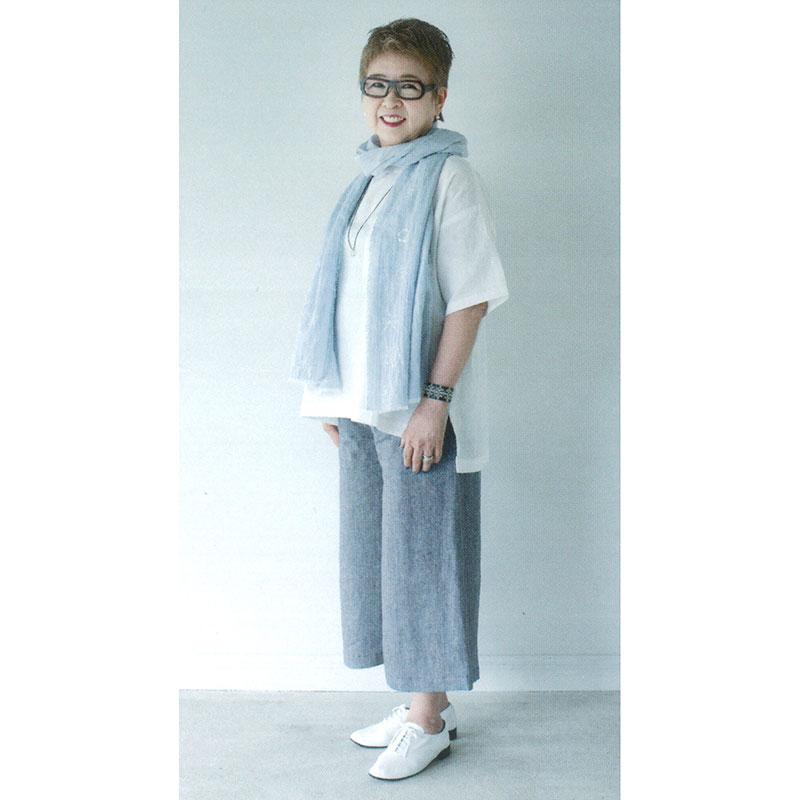Tシャツ風ブラウスb(前短)(作り方なし)いつも心地のよい服とバッグ掲載
