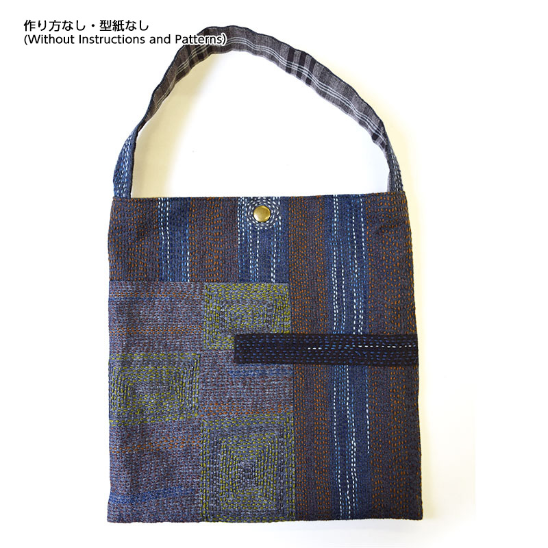 刺し子風ワンマイルバッグ(作り方なし)すてきにハンドメイド2020年5月号掲載
