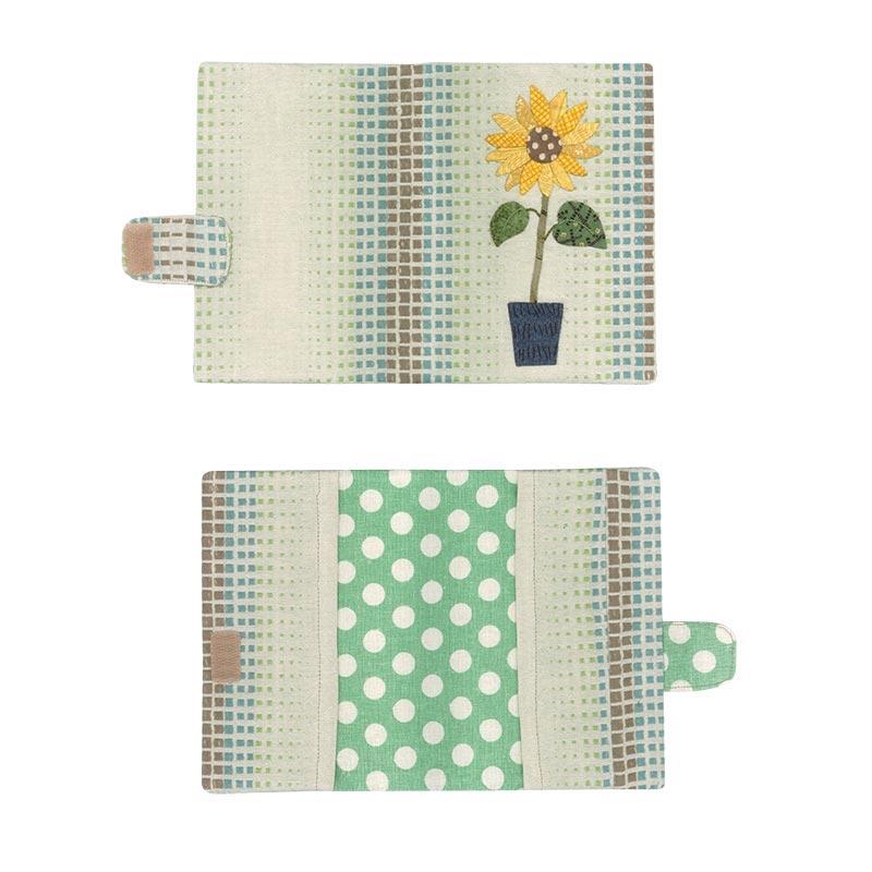 四季のカードケース ひまわり(作り方なし)私たちが好きなキルトのバッグとポーチ