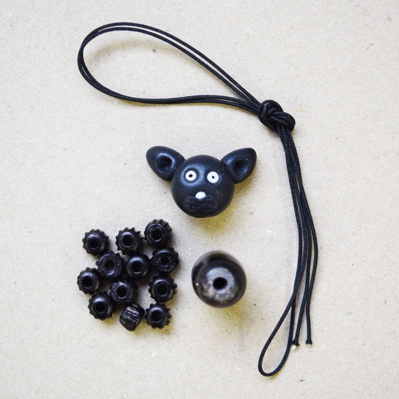 ネコのファスナー飾りの手作りキット