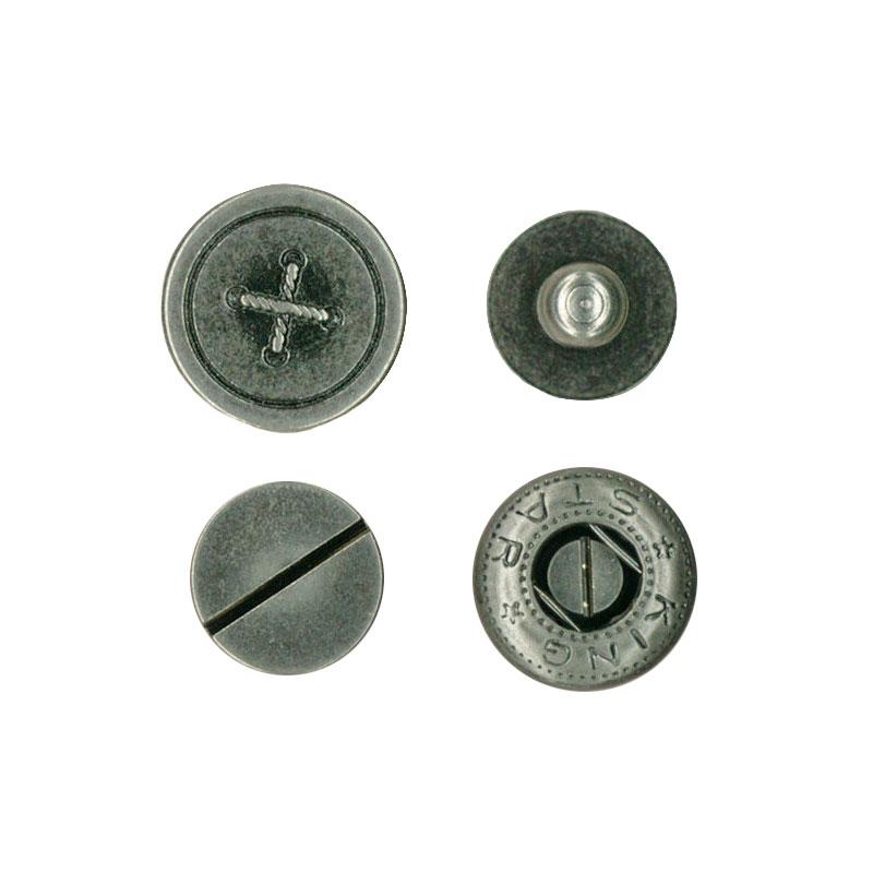 ネジ式バネホック ボタン柄