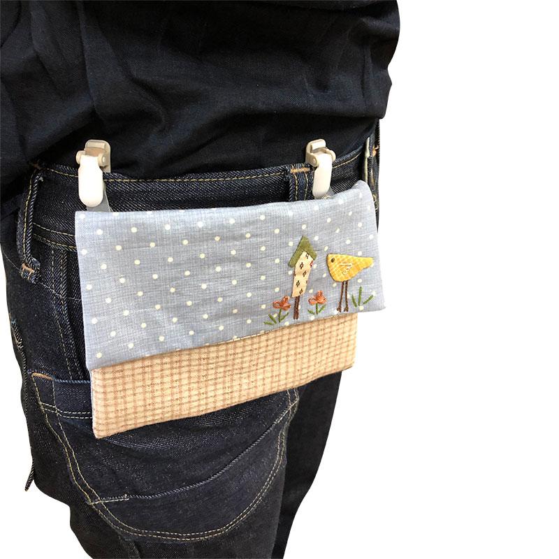 カントリーガーデンのポケットバッグ*