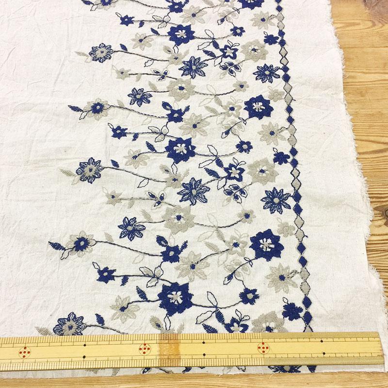 web20210520-03 スカートにおすすめボーダー刺しゅう柄 10cm