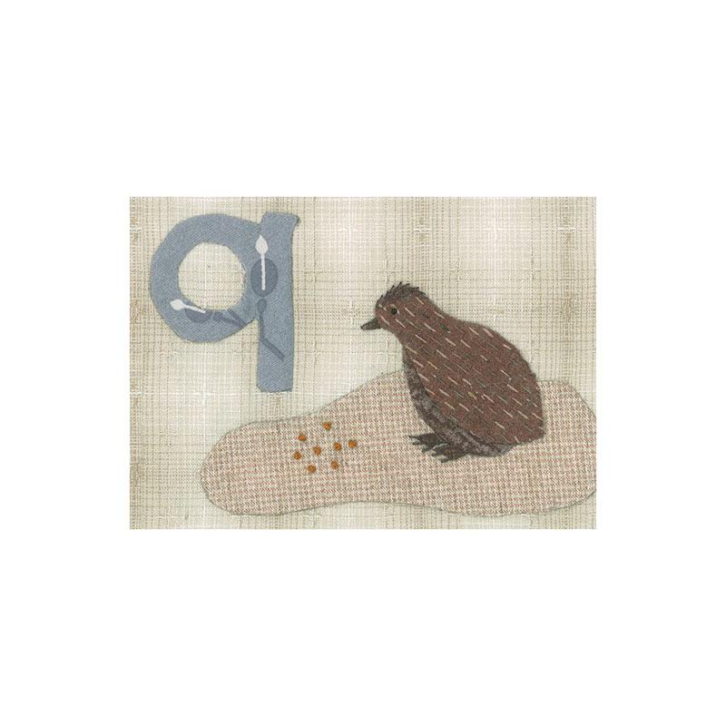 アルファベットで描くいきもの ユニコーン うずら わに (作り方なし)斉藤謠子の 布で描くいきものたち掲載