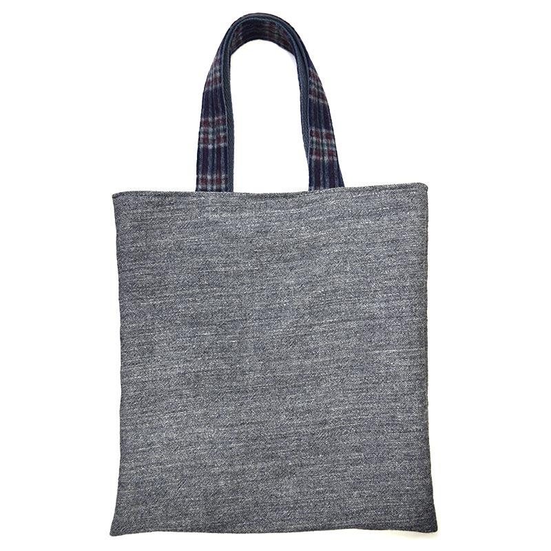 リネン混ウールで作るバードツリーのバッグ