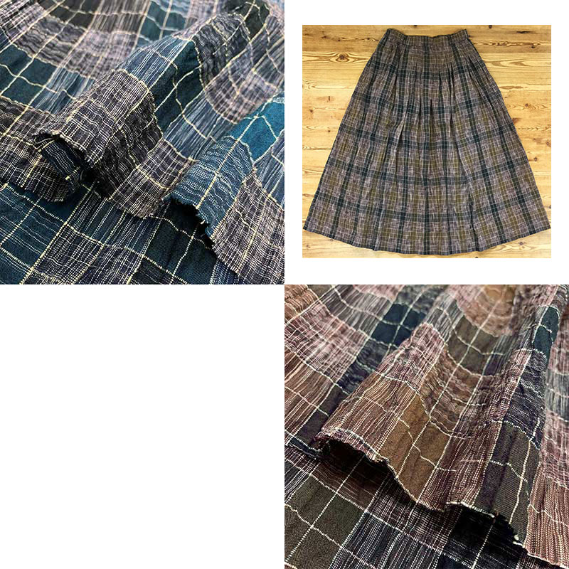 web20210520-04 スカートにおすすめ絣チェック柄 10cm