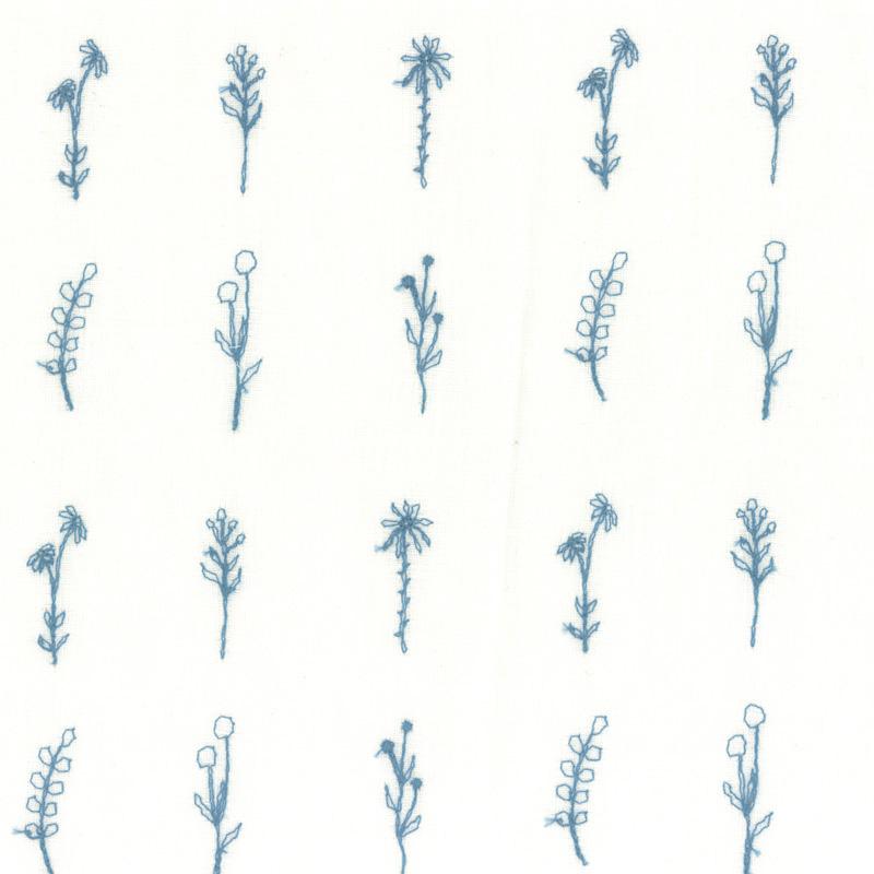 web20210414-02 夏マスクにもおすすめ草花刺しゅうのリネン布 10cm(プレゼント付き)