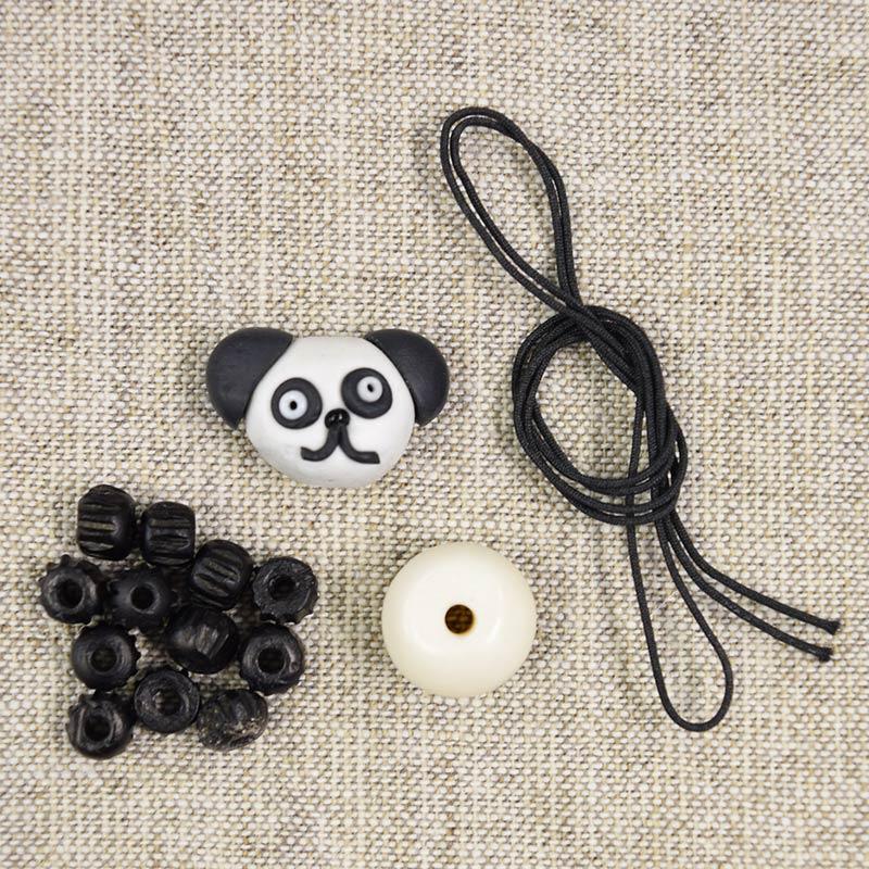パンダのファスナー飾りの手作りキット