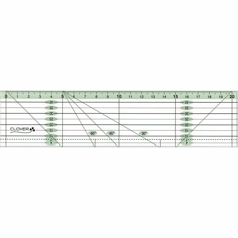 パッチワーク定規カラーライン(20cm)