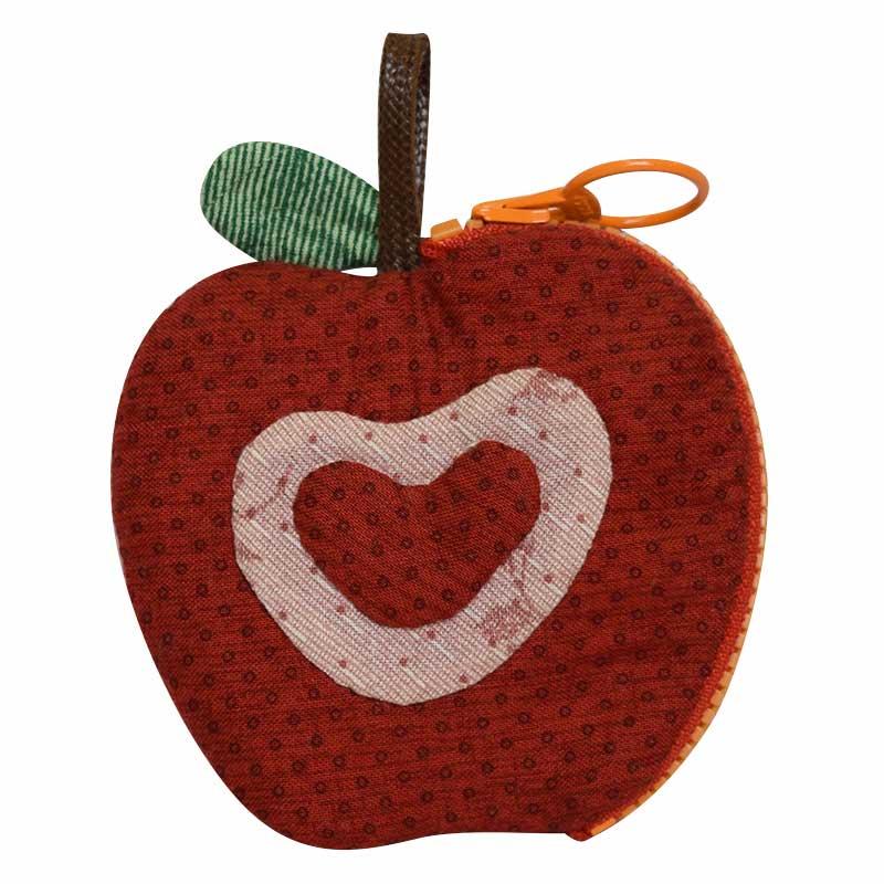 リンゴのミニポーチ*