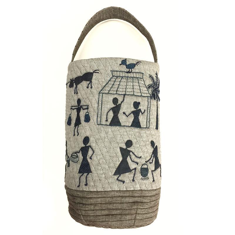 アップリケのバッグ(インドのバッグ)作り方付き