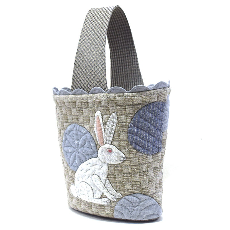 うさぎのバッグ(作り方なし)布で描くいきものたち掲載
